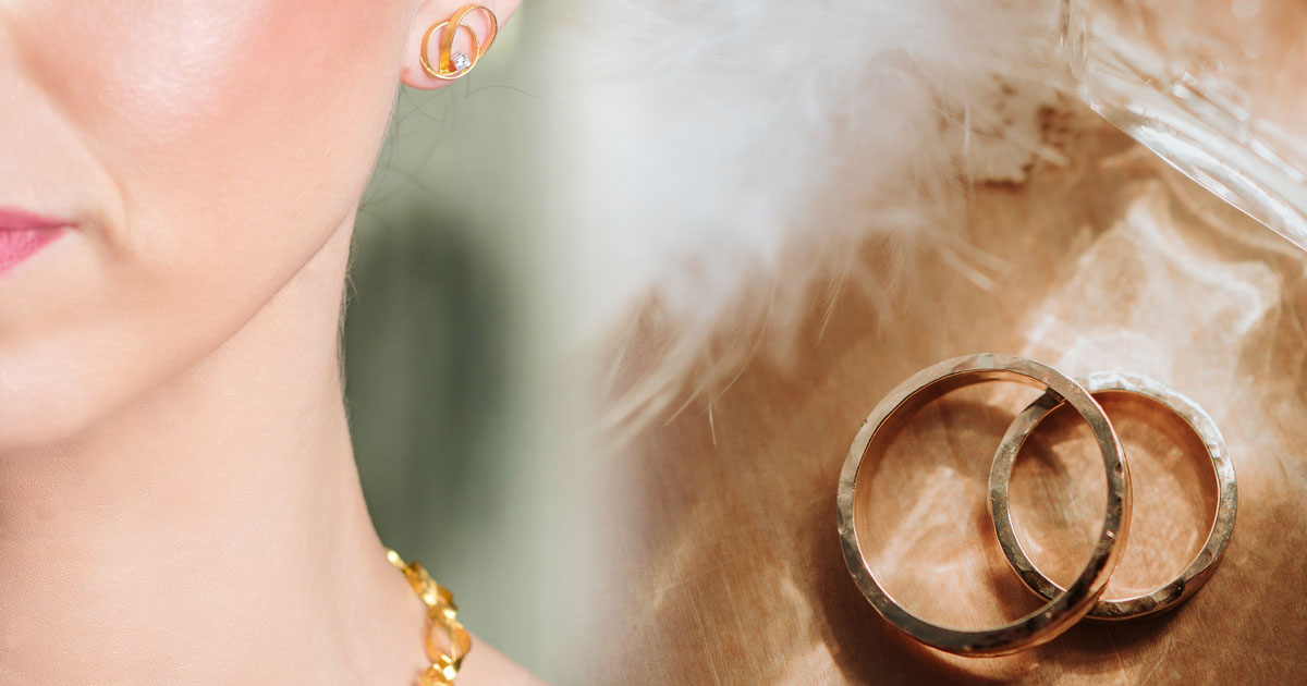 Χρυσά σκουλαρίκια για νύφες | Τι να επιλέξετε
